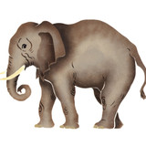 African Elephant Wall Stencil by DeeSigns