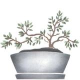 Bonsai Tree Wall Stencil by DeeSigns