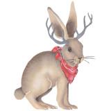 Jackalope Rabbit Wall Stencil by DeeSigns