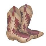Old Cowboy Boots Wall Stencil by DeeSigns