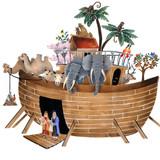 Noah's Ark Wall Stencil by DeeSigns