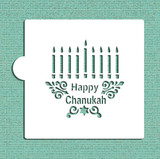 Happy Chanukah Menorah Cookie and Craft Stencil