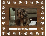"""Paw Print Wooden Picture Frame (Vertical or Horizontal 4"""" x 6"""" Photo)"""