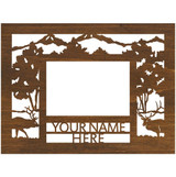 """Personalized 9"""" x 12"""" Elk Scenic Wood Picture Frame (4"""" x 6"""" Photo)"""