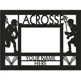 """Personalized 9"""" x 12"""" Lacrosse (Men's) Wood Picture Frame (4"""" x 6"""" Photo)"""