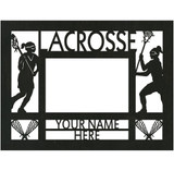 """Personalized 9"""" x 12"""" Lacrosse (Women's) Wood Picture Frame (4"""" x 6"""" Photo)"""