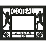 "Personalized 9"" x 12"" Football Wood Picture Frame (4"" x 6"" Photo)"