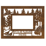 """Personalized 9"""" x 12"""" Turkey Scenic Wood Picture Frame (4"""" x 6"""" Photo)"""