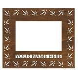 "Mini Personalized 7.5"" x 9"" Turkey Scenic Wood Picture Frame (4"" x 6"" Photo)"