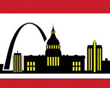 St Louis Detailed Skyline Cake Stencil Side