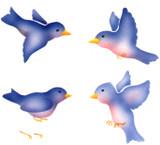 Tweetie Bird Assortment Wall Stencil by The Mad Stencilist