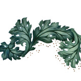 Acanthus Leaves Wall Stencil by The Mad Stencilist