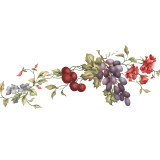 Grapes and Peonies Wall Stencil by The Mad Stencilist