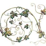 Spiral Vine Wall Stencil by The Mad Stencilist