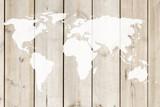 Small World Map Wall Stencil