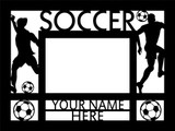 """Personalized 9"""" x 12"""" Soccer (Men's) Wood Picture Frame (4"""" x 6"""" Photo)"""