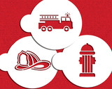 Firemen Cookie Stencil Set