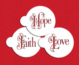 Hope, Faith and Love Cookie Stencil Set