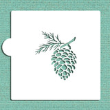 Pinecone Cookie and Craft Stencil
