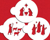 Nativity, Wisemen and Shepherd Cookie Stencil Set