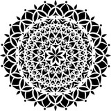Vedas Manadala Stencil (10 mil plastic)