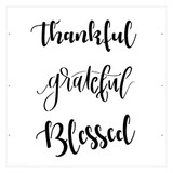 """Thankful - Grateful - Blessed"" Sign Stencil (10 mil plastic)"