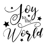 """Joy To The World"" Sign Stencil (10 mil plastic)"