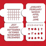 Save the Date Calendar Cookie Stencil Set