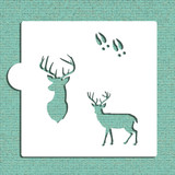 Deer Buck Cookie and Craft Stencil
