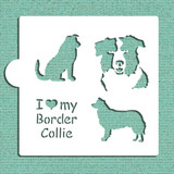 I Love My Border Collie Cookie and Craft Stencil