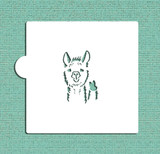 Llama Cookie and Craft Stencil