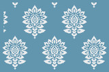 Batik Damask all over pattern Wall Stencil