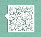 Swirl All Over Pattern Cookie and Craft Stencil