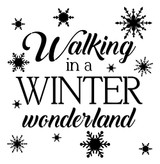 Walking in a Winter Wonderland Stencil - 10 mil