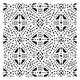 Tribal Stitches All Over Pattern Stencil (10 mil plastic)