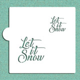 Let It Snow Cookie and Craft Stencil