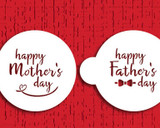 "Happy Mother's/Father's Day 3"" Cookie Stencil Set"