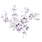Garden Gatherings Bunch Wall Stencil (Large)