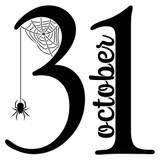 October 31st With Halloween Spider Stencil (10 mil plastic)