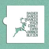 Santa's Reindeer Cookie and Craft Stencil