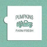 Vintage Pumpkin Truck Cookie and Craft Stencil