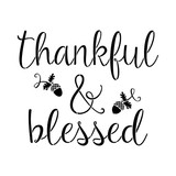 thankful and blessed stencil
