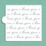 i love you small stencil