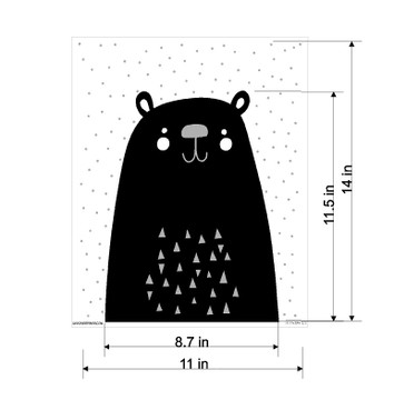 Mix and Match Animal IV - Polar Bear Stencil by Victoria Borges SKU #WAG104