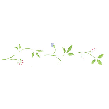 Traditional Floral Wall Stencil Border