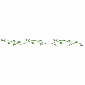 Tiny Leaf Wall Stencil Border