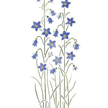 Bell Flowers Wall Stencil