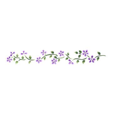 1.5 inch Floral Border Wall Stencil