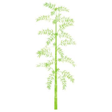 Small Bamboo Tree Wall Stencil
