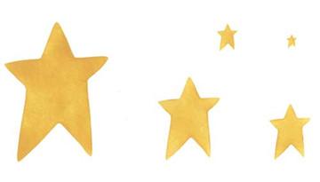 Five Folk Stars Wall Stencil